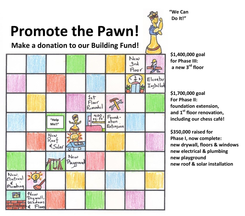 Promote the Pawn! Make a Donation to our Building Fund!